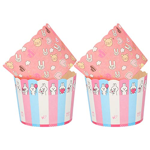 jojofuny 300pcs Muffin Cup Paper Baking Cup Round Paper Baking Cups Cupcake Cup for Home Dessert Shop Easter Party…