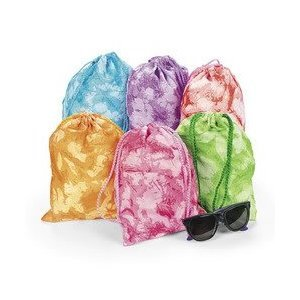 12 Tie-dyed Drawstring Tote Bags, Health Care Stuffs