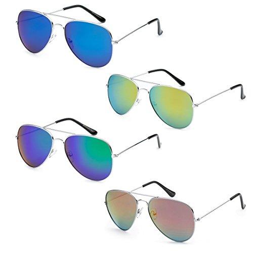WHOLESALE BULK LOT PROMOTIONAL UNISEX CLASSIC PILOT AVIATOR SUNGLASSES - 4 - Bulk Wedding Sunglasses For