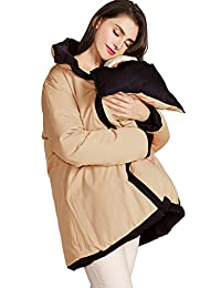 Sweet Mommy Reversible Down Maternity and Mama Coat with baby cover