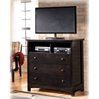 Harmony Media Chest in Deep Dark Brown Finish