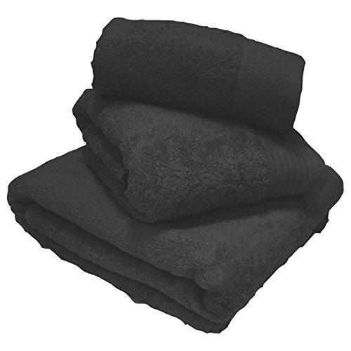 Yorkshire Linen Luxury 100% Egyptian Cotton Black Towels Super Sheet 100x180cm by Yorkshire Linen