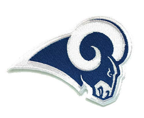 Rams Football Fully Embroidered Sew/Iron On Patch InspireMe Family Owned (3.5