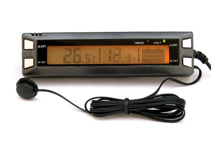 - New Auto Car Clock Digital Display Temperature Thermometer Voltage Monitor