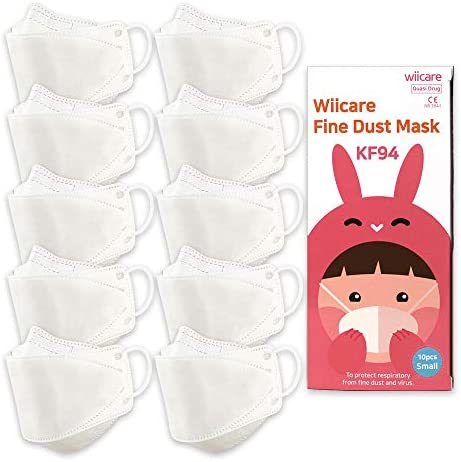 [Kids 10pcs] KF94 Face mask made in Korea, stock in the US, 10pcs in poly bag, usable in sanitary, easy and comfortable way [Wiicare KF94 Mask (Kids 10pcs)]