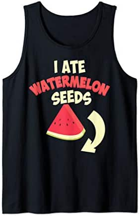 Funny I Ate Watermelon Seeds | Cool Pregnant Women Baby Gift Tank Top