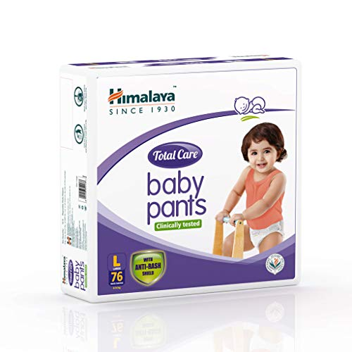 Himalaya Total Care Baby Pants Diapers, Large, 76 Count