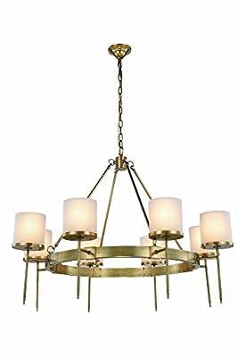 """Elegant Lighting 1504G45BB Bradford Collection Pendant Lamp D45"""" H34"""" 8-Light"""