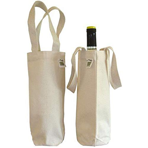 ECOBAGS® Canvas Wine Bag for 750 mL Bottle - 100% Recycled Cotton ()
