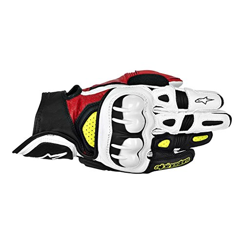 ALPINESTARS 2014 Alpinestars GPX Leather Motorcycle Gloves - Red/White/Blue - Medium
