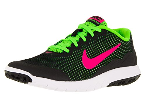 Nike Wmns Flex Experience Rn 4 - Calzado Deportivo para mujer Black/Pink Blast/Electric Green/White