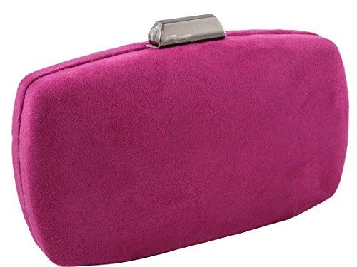 bolso de fiesta Antelina color buganvia