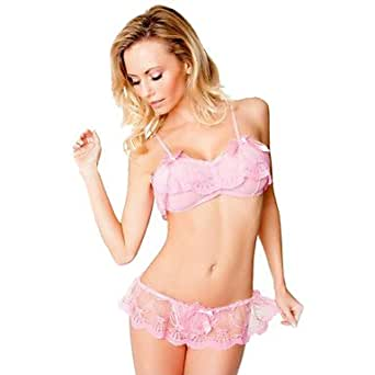 Amazon.com: BuW Women's Three-lace Sexy Lingerie Suit ...