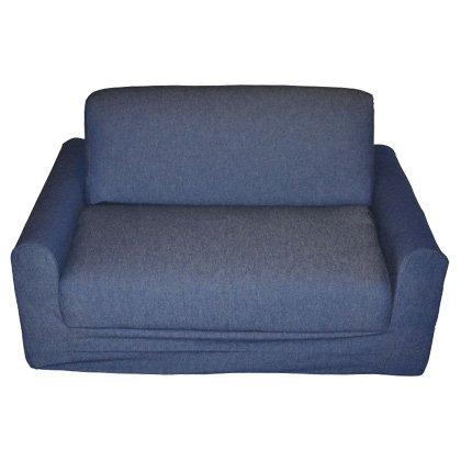 Amazon.com: Fun Furnishings Sofa Sleeper, Black Micro Suede ...