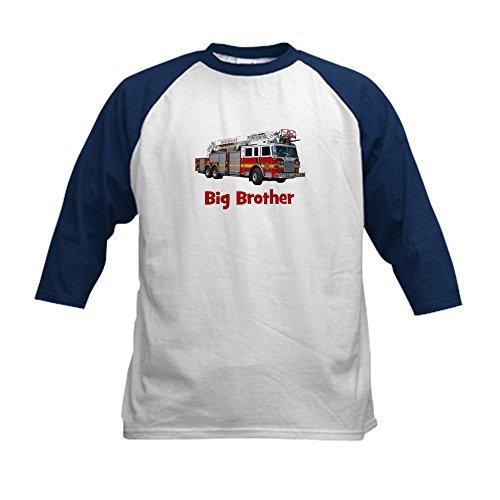 CafePress - Big Brother Fire Truck Kids Baseball Jersey - Ki