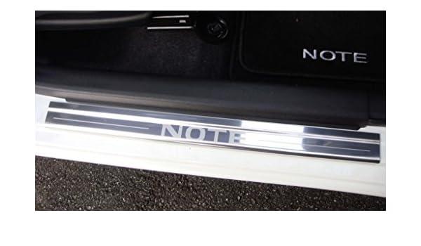 Nissan Note 2012 en adelante Mk2 4 x puertas cromadas protectores de umbral patear placas pulidas de acero inoxidable conjunto completo: Amazon.es: Coche y ...