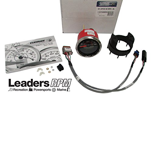 Evinrude Etec New Icon Pro Speedo Speedometer Kit 3'' Black 80 MPH 0768055 768055 by Johnson/Evinrude/OMC/BRP