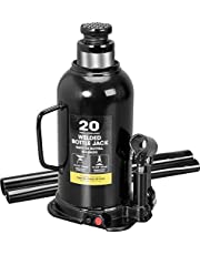 Torin AT92003BB Hydraulic Welded Bottle Jack, 20 Ton (40,000 lb) Capacity, Black