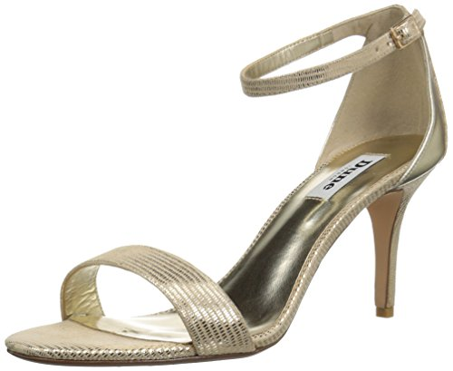Dune London Mujeres Mariee Dress Sandal Gold Reptile
