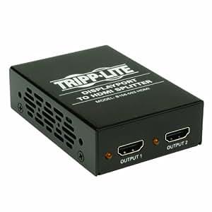 Tripp Lite B156-002-HDMI 2-Port DisplayPort 1.2 to HDMI Multi-Stream Transport (MST) Hub, 4Kx2K UHD