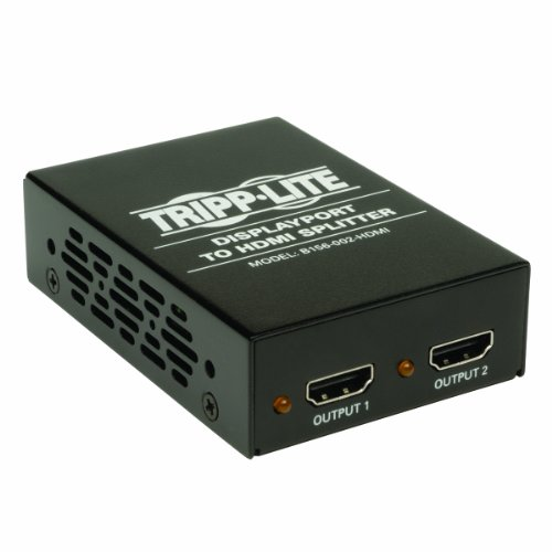(Tripp Lite 2-Port DisplayPort 1.2 to HDMI Multi-Stream Transport (MST) Hub, 3840x2160 4K x 2K @ 24/30Hz (B156-002-HDMI))
