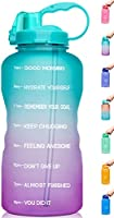 Venture Pal Large 1 Gallon/128 OZ (When Full) Motivational BPA Free Leakproof Water Bottle with Straw & Time Marker...