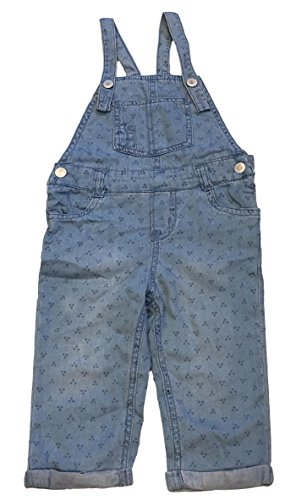 OshKosh by Genuine Kids Dot Print Blue Denim Overalls (3T)