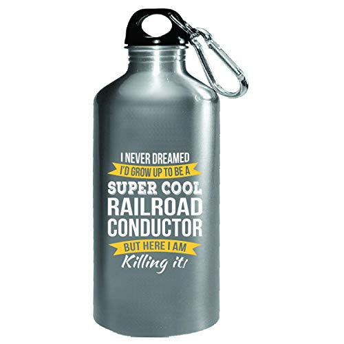 Super Cool Railroad Conductor Funny Gift - Water Bottle ()