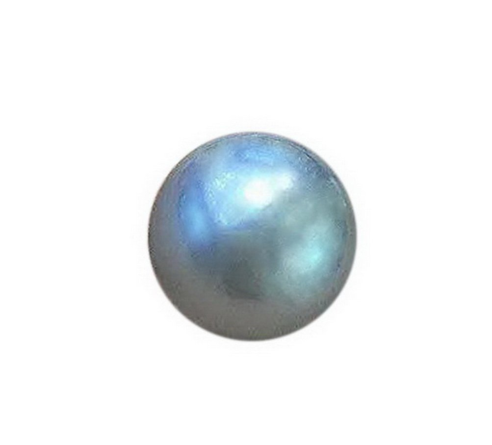 Top luster round 15-16mm south sea cultured gray loose pearl .necklace pendant