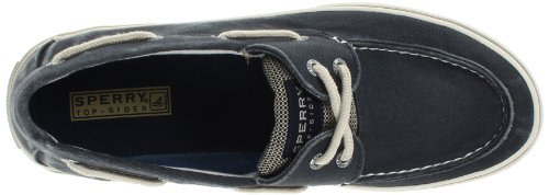Sperry Top-Sider Halyard 2-Eye,Ecru,10 M US Canvas Navy/Honey