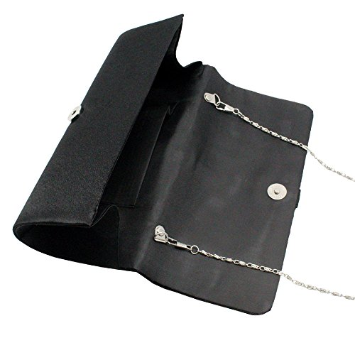 Evening blue Clutch Medallion Crystal Pleated Wiwsi royal Elegant Handheld Center Bag Satin pqPx1w0wY