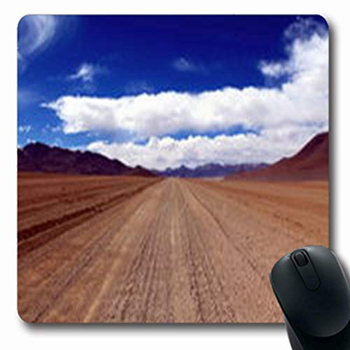 Pandarllin Mousepads Extreme Dusty Gravel Road Many Tracks Through Nature Adventure Eduardo Oblong Shape 7.9 x 9.5 Inches Oblong Gaming Mouse Pad Non-Slip Rubber Mat