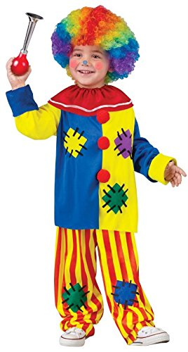 Fun World Costumes Baby Girl's Big Top Clown Toddler Costume, Yellow, Small -