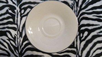 Lenox Maywood Platinum Banded Ivory China Saucer