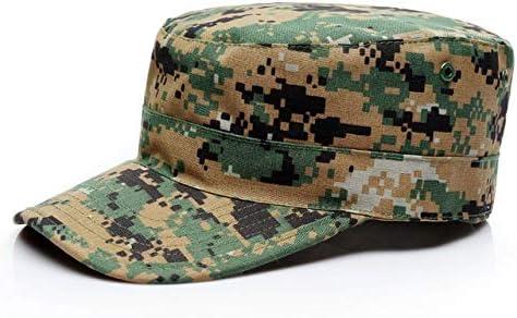 QOHNK Blanc Uni Camo Ajust/é Chapeaux Hommes Arm/ée Militaire Camo Chapeaux Baseball Desert Digital Camouflage Cap Femmes Soldat Chapeau