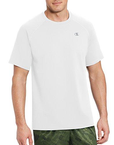 Champion Men's Vapor Select Tee with FreshIQ, White, XL
