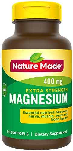 Nature Made High Potency Magnesium 400 mg Softgels, 110 count