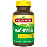 Nature Made Extra Strength Magnesium 400 mg Softgels, 110 Count for Nutrition Support (Packaging May Vary)
