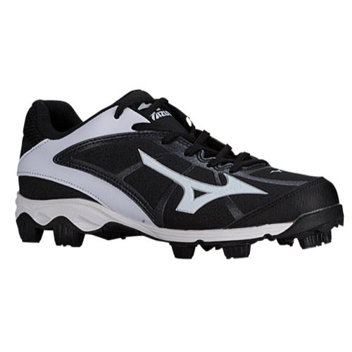 Mizuno Women's 9 Spike adv Finch frhse6 bk-wh, Black/Pink, 8 M US