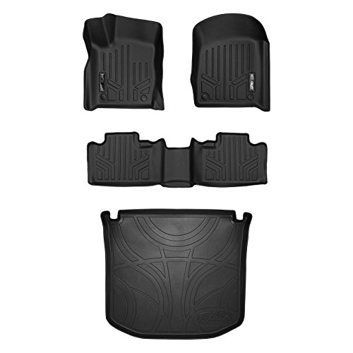 SMARTLINER Floor Mats (2 Rows) and Cargo Liner Set Black for 2016-2018 Jeep Grand Cherokee