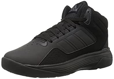 adidas NEO Men's Cloudfoam Ilation Mid Basketball Shoe, Black/Black/Onix, 7 M US