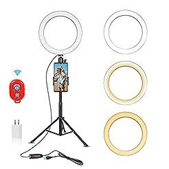 Emart 10-inch Selfie Ring Light with Adj...