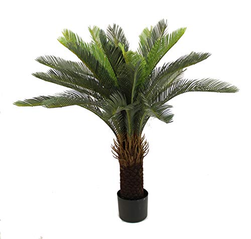 Cycas Palm Tree - Unique Forest Arts Cycas Tree, Cycas Palm Tree,Artificial Tree 3-Feet,Artificial Plant,Fake Plant Green