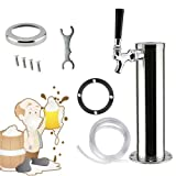 TFCFL Tap Steel Draft Beer Stainless Dual Chrome Faucet Tower Kegerator (1 Faucet)