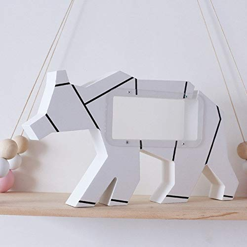 ZAMTAC INS Nordic Style Wooden Polar Bear Transparent Piggy Bank Children's Festival Gift Creative Home Wall Decoration Ornaments - (Color: White)