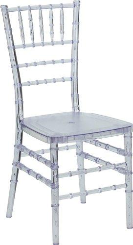 Flash Furniture Flash Elegance Crystal Clear Resin Stacking Chiavari Chair