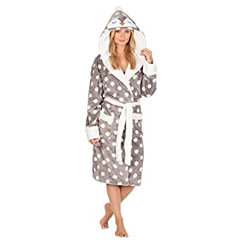 9de3fda57 Armyandworkwear Luxury Penguin Animal Hooded Robe Ladies Dressing Gown for  Women, Penguin - Grey with White Spots | Size: XL (20-22): Amazon.co.uk:  Clothing