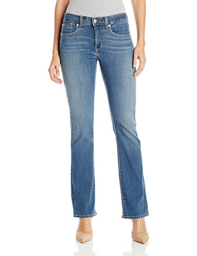 Signature by Levi Strauss & Co Women's Totally Shaping Bootcut Jeans, Rhapsody, 12 Short (Best Boots For Short Skinny Legs)