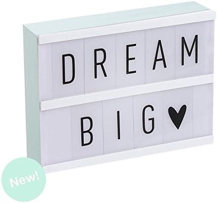 Dcasa - Lightbox Caja de luz A5 color mint con 75 letras .: Amazon.es: Hogar