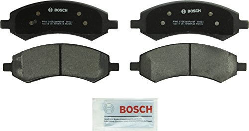 Bosch BP1084 QuietCast Premium Semi-Metallic Disc Brake Pad Set For Select Chrysler Aspen; Dodge Dakota, Durango, Ram 1500; Mitsubishi Raider; Ram 1500, Dakota; Front